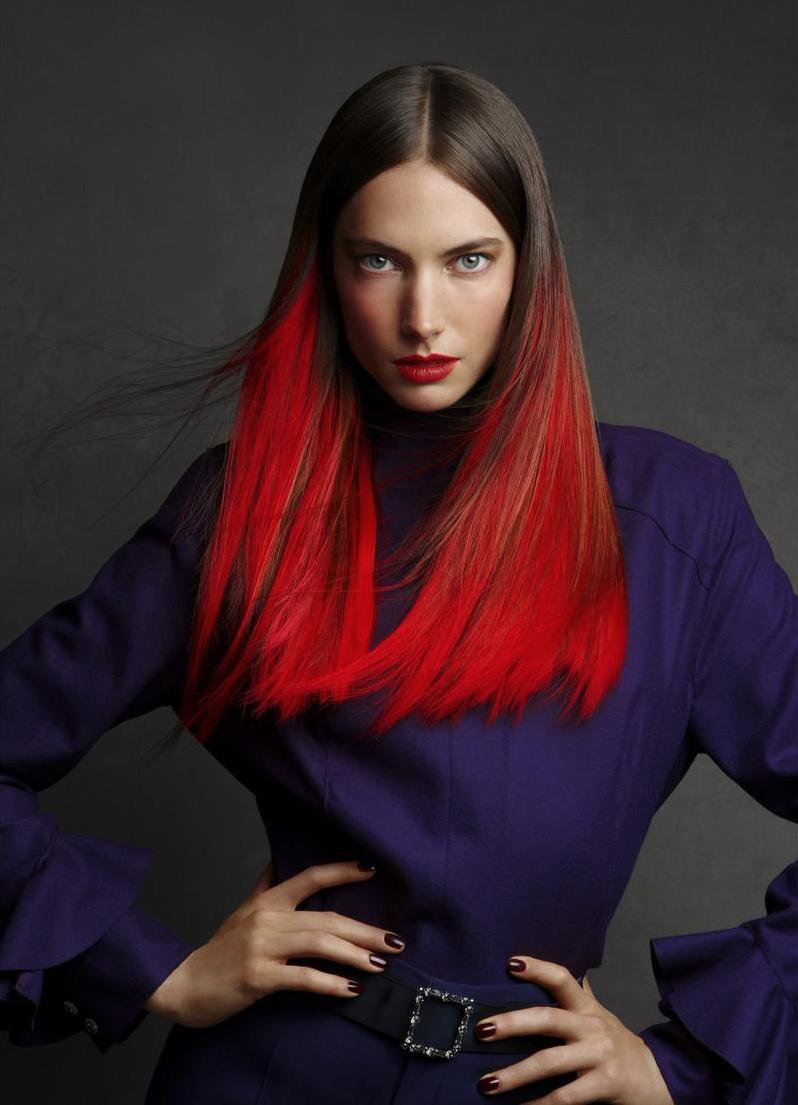 Покраска волос в два цвета придаем красивый и экстравагантный вид
