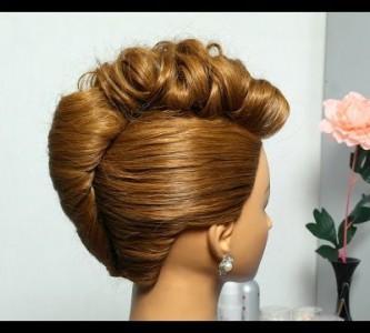 Придумываем праздничную прическу для средних волос