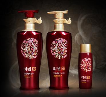Флаконы корейских шампуней