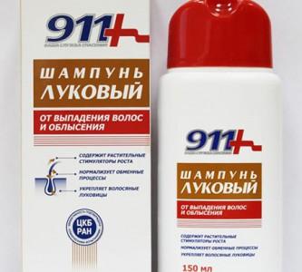 Использование лукового шампуня 911