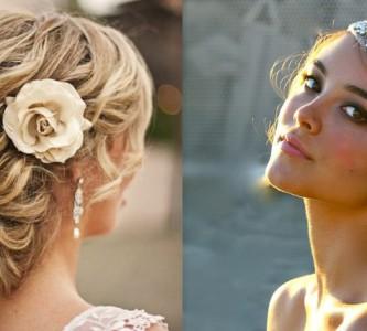 Яркие свадебные прически с цветами и венками