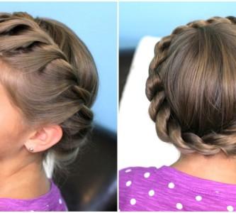 Простые и красивые прически на средние волосы для девочки