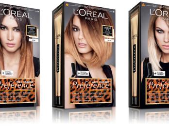 Стильное окрашивание краской для волос Лореаль Омбре