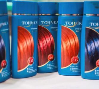 Окраска волос оттеночным шампунем Тоника