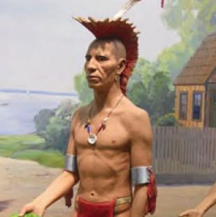 Индеец с ирокезом