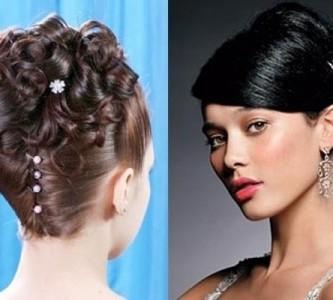 Повседневная и праздничная укладка прически «ракушка» для средних волос