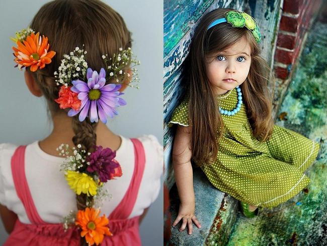 Прически с цветами и обручами