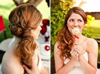 Женственные и изящные прически на бок для средних волос