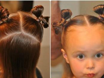 Разновидности прически с бантом из волос