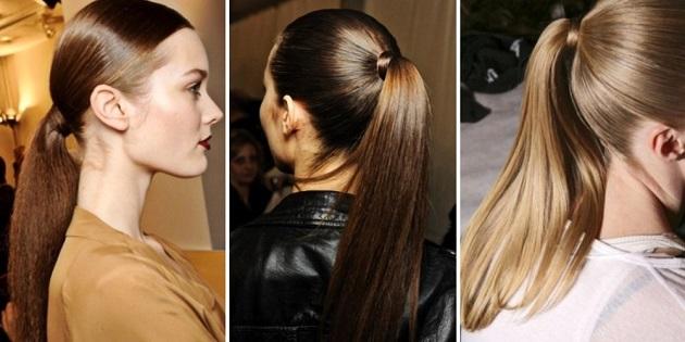 Хвосты на длинные волосы