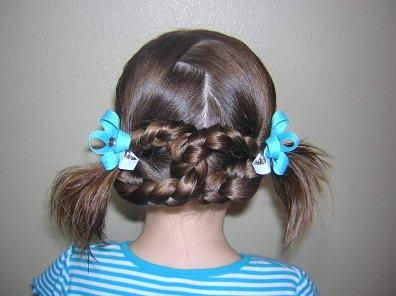 Укладка восьмерки из кос