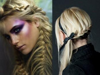 Примеры причесок с плетениями на средние волосы