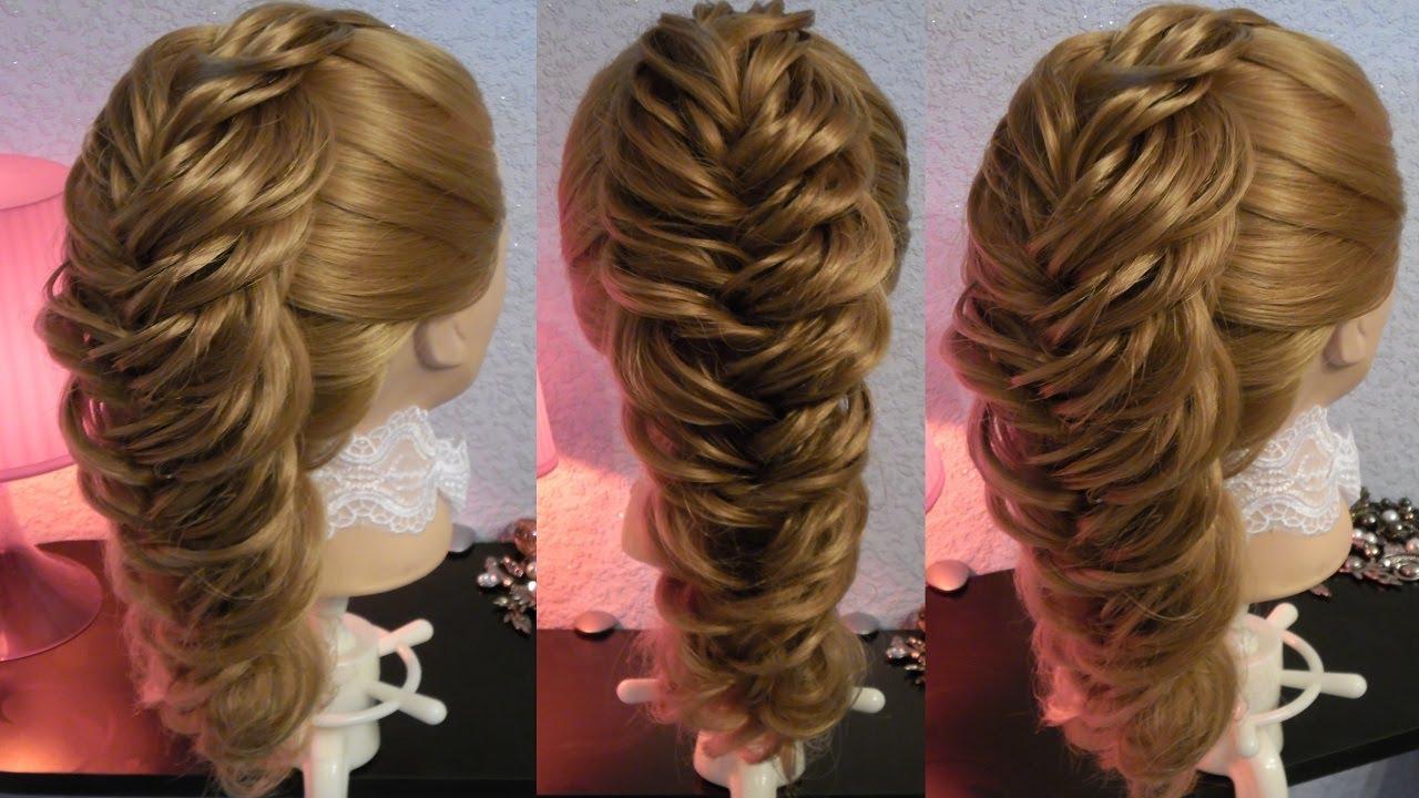 Объемное плетение косы