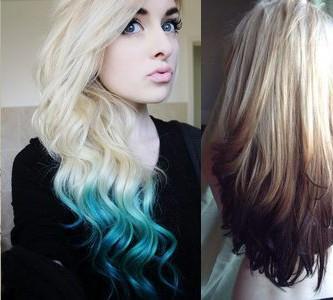 Технология окраски омбре на светлые волосы