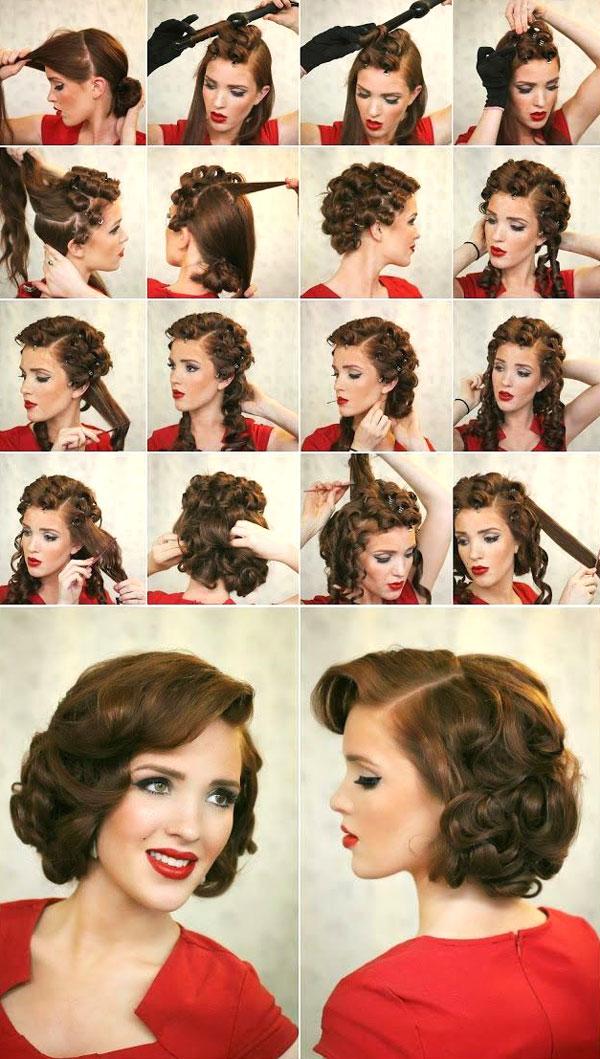 Кудри на короткие волосы