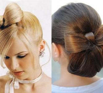 Оригинальные и стильные прически с бантиком из волос