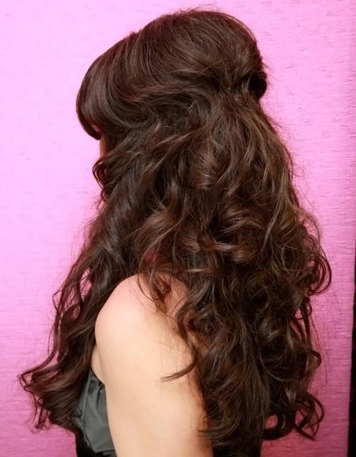 Мальвинка на кудрявые длинные волосы