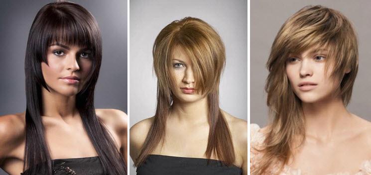 Асимметрия для длинных волос