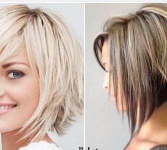 Градуированный и двойной вариант стрижки каре на средние волосы