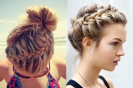 Коса-ободок на короткие волосы