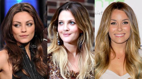 Длинные волосы для круглого лица