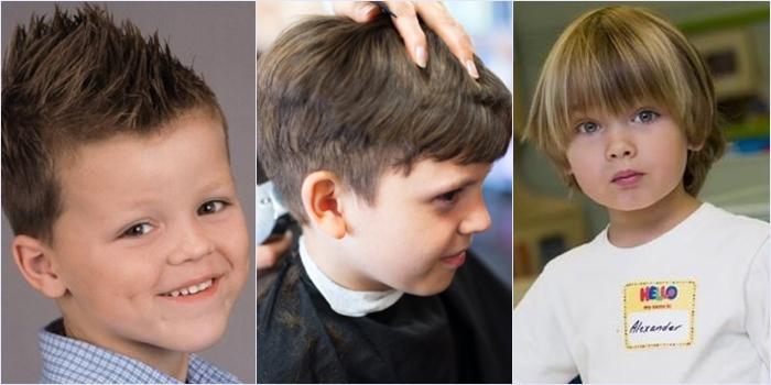 Различные стрижки для мальчика