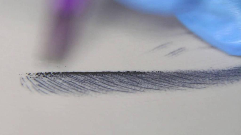 теневая растушевка бровей после коррекции фото